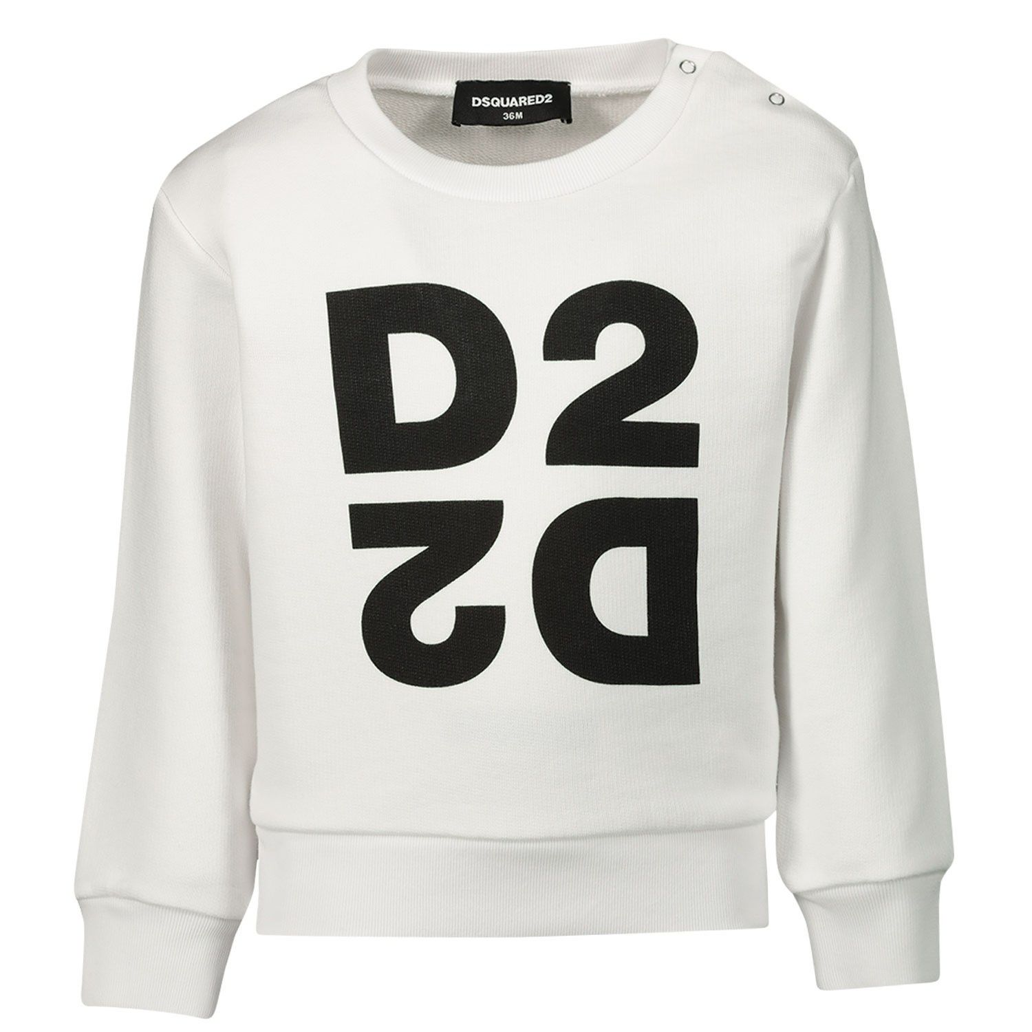 Picture of Dsquared2 DQ042S baby sweater white