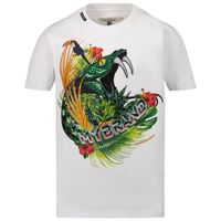 Picture of My Brand 3X21001A0003 kids t-shirt white