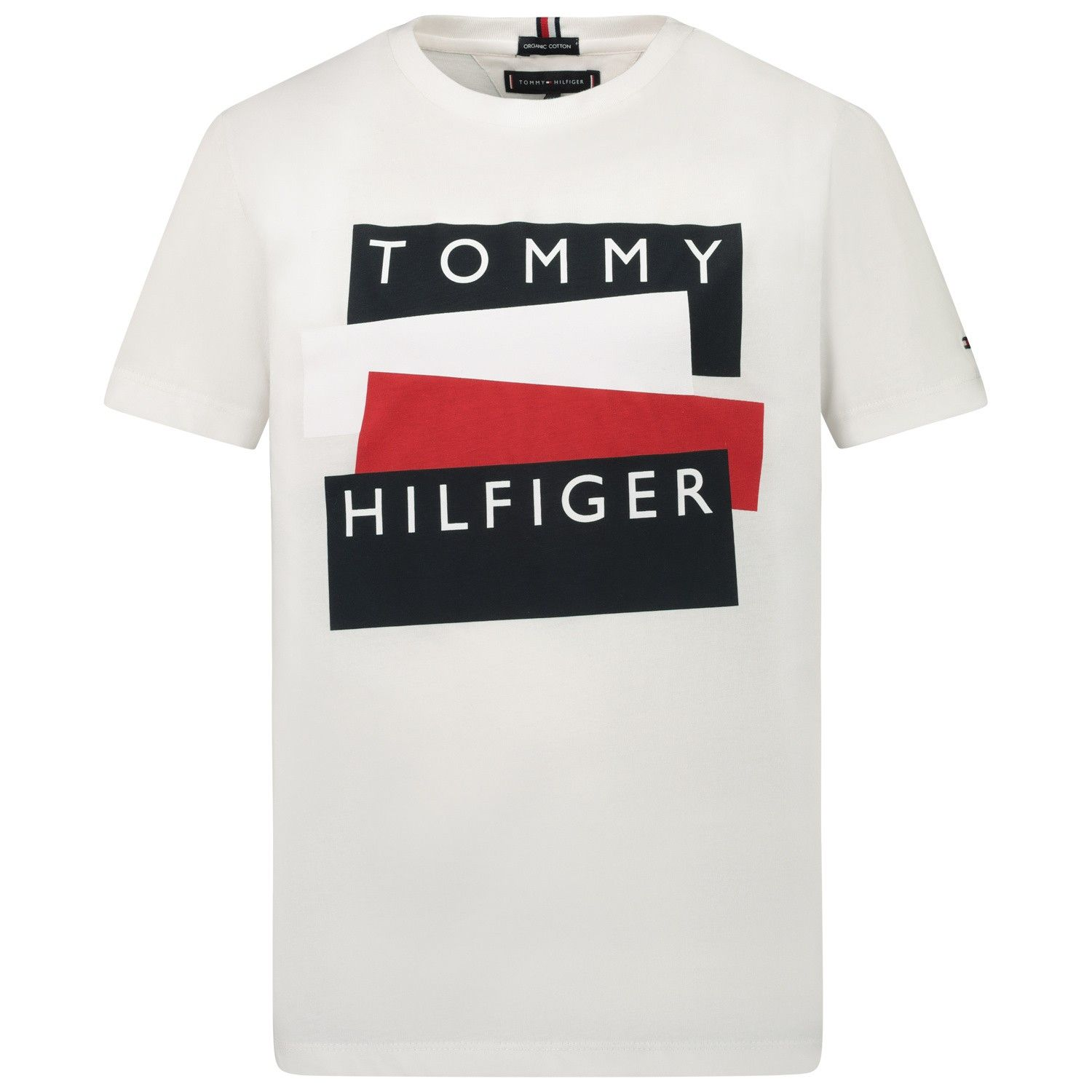 Picture of Tommy Hilfiger KB0KB05849 kids t-shirt white