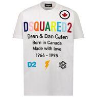 Afbeelding van Dsquared2 DQ0516 kinder t-shirt wit