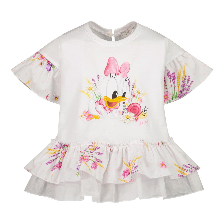 Picture of MonnaLisa 317623PO baby tunic white