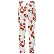 Afbeelding van MonnaLisa 117419 kinder legging wit/rood