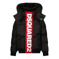 Picture of Dsquared2 DQ0664 baby coat black