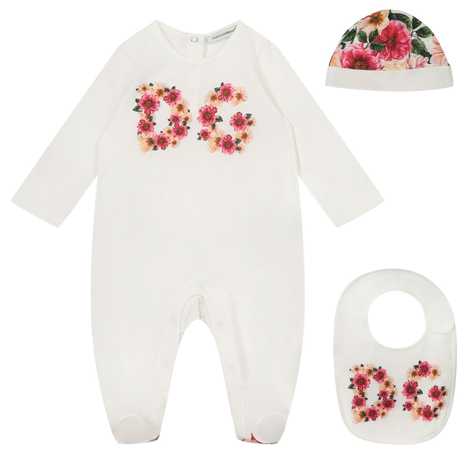 Picture of Dolce & Gabbana L2JG18 baby playsuit pink