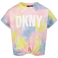 Picture of DKNY D35R34 kids t-shirt light pink