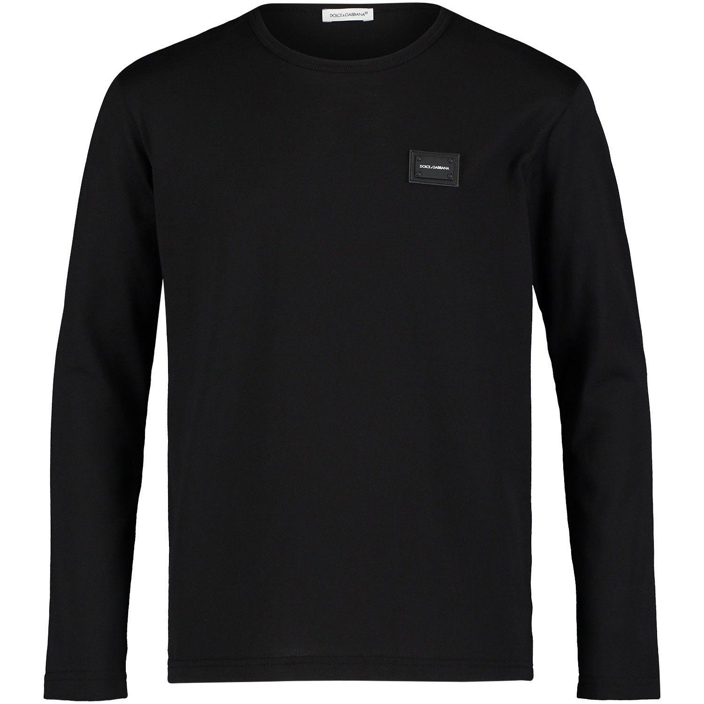 Picture of Dolce & Gabbana L4JT7M kids t-shirt black