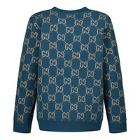 Picture of Gucci 615411 baby sweater petrol