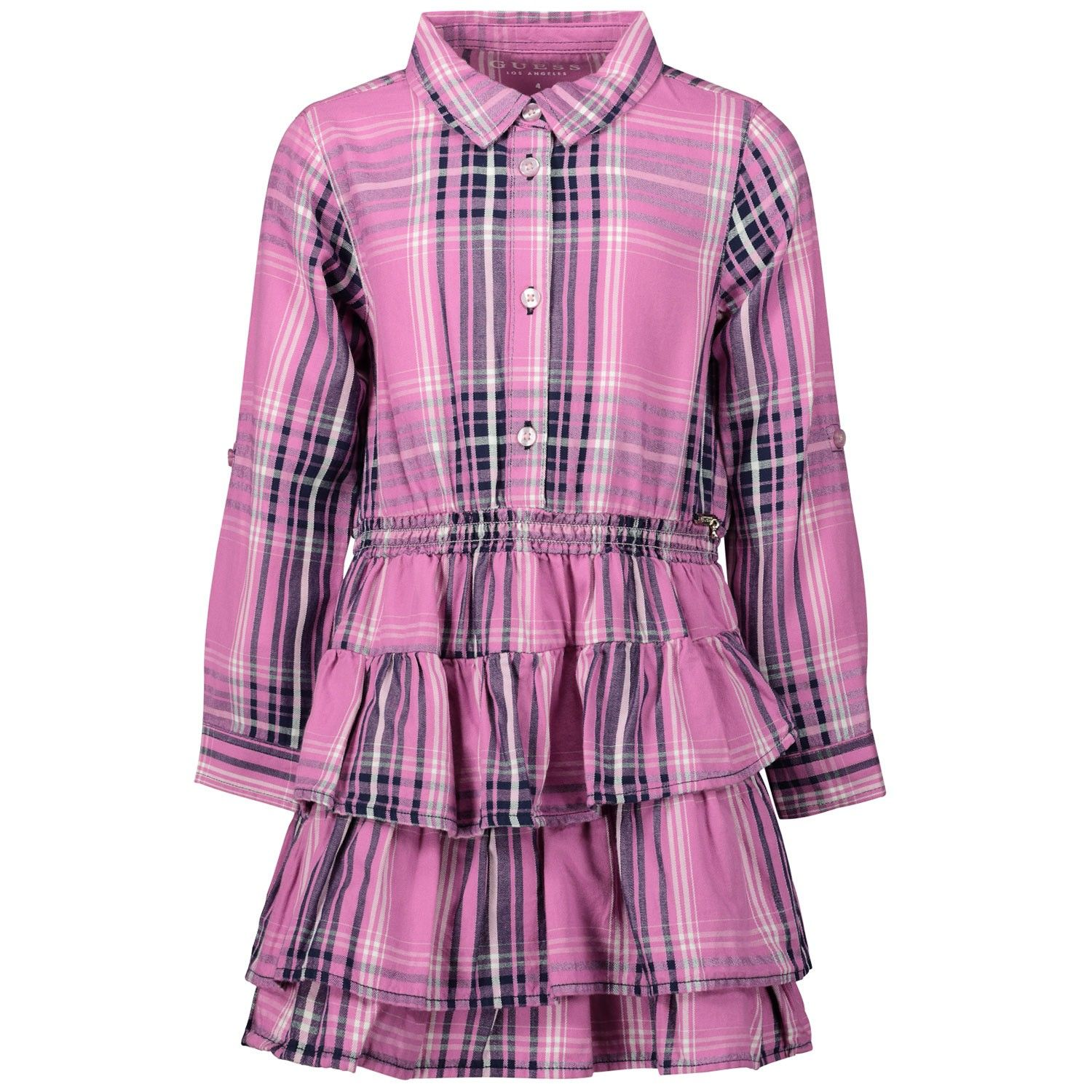 Picture of Guess K01K13 kids dress fuchsia