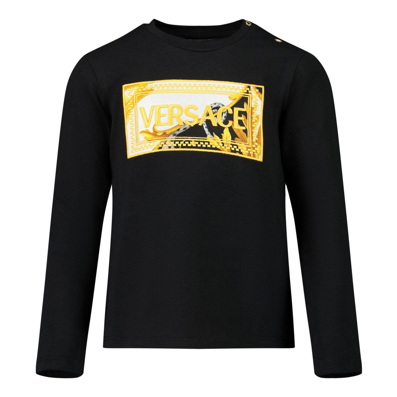 Picture of Versace YA000209 baby shirt black