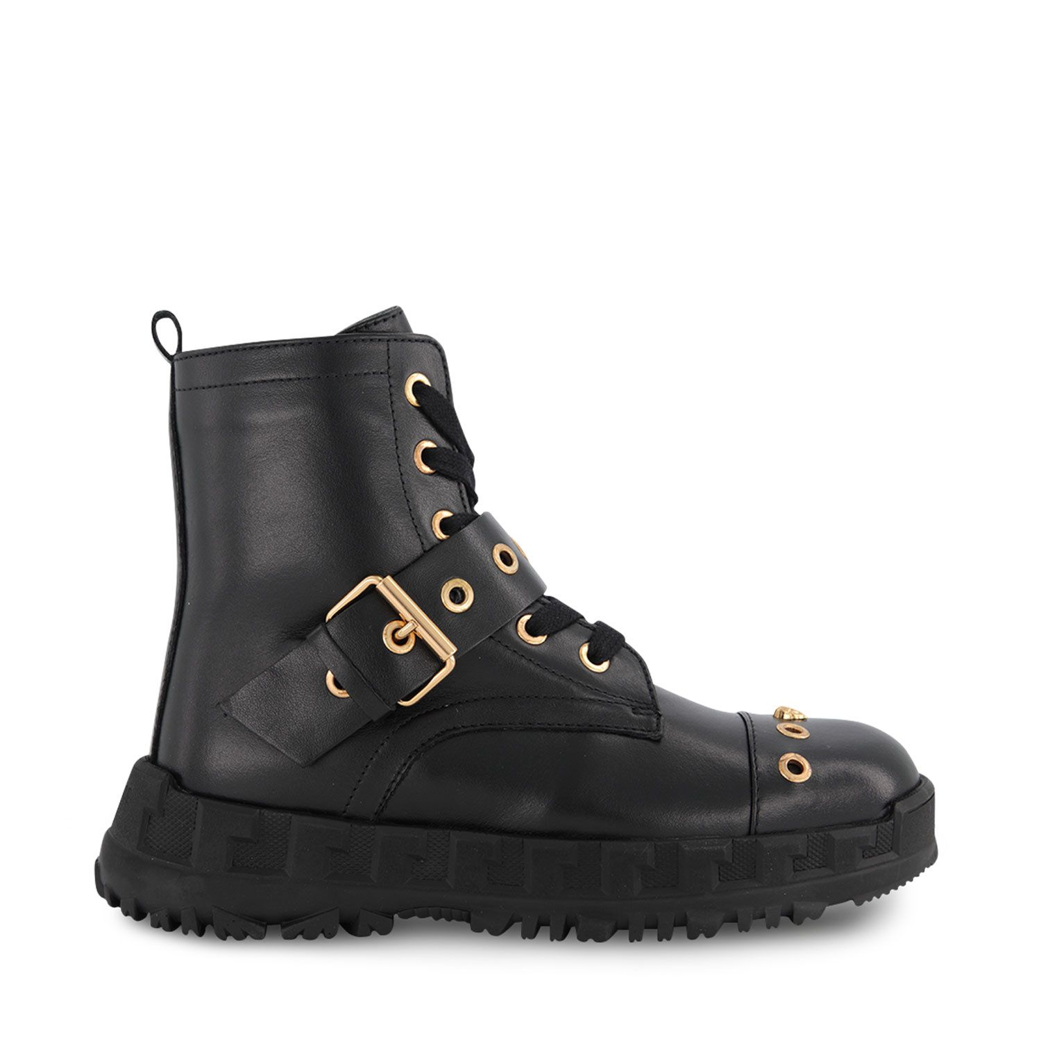 Picture of Versace YHF00062 kids boots black