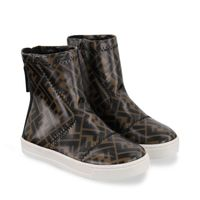 Picture of Fendi JMR352 kids boots brown