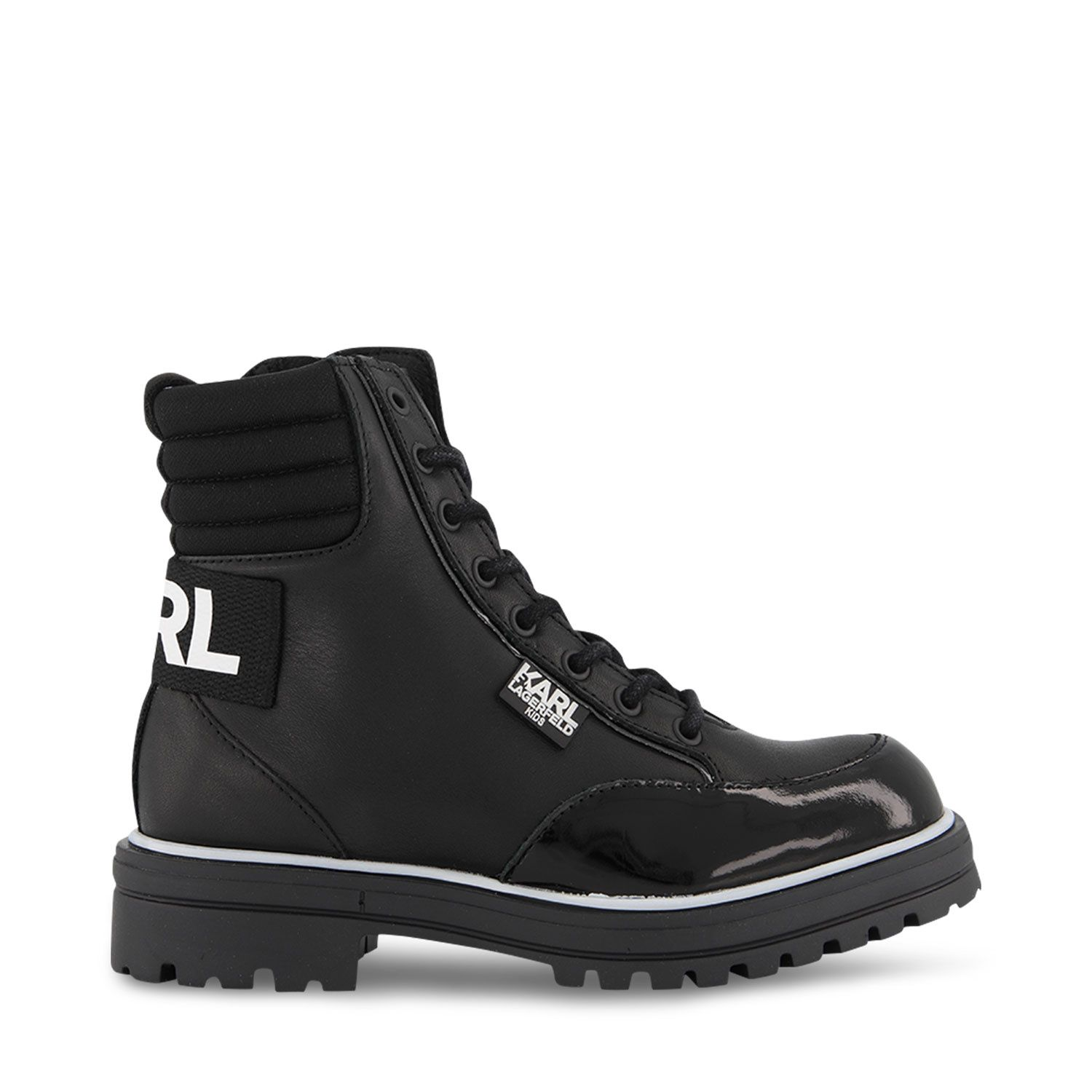 Picture of Karl Lagerfeld Z19063 kids boots black