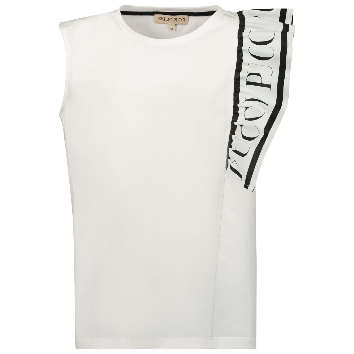 Picture of Pucci 9O8092 kids t-shirt white