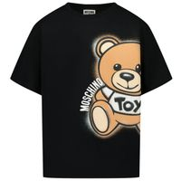Picture of Moschino HQM02X kids t-shirt black
