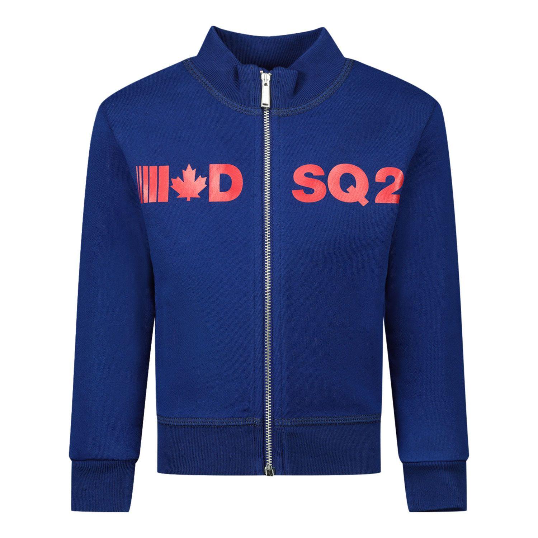 Afbeelding van Dsquared2 DQ04DA baby vest cobalt blauw