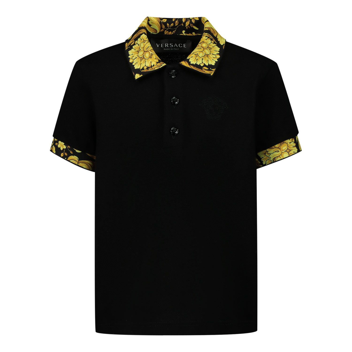 Picture of Versace 1000196 1A00283 baby poloshirt black