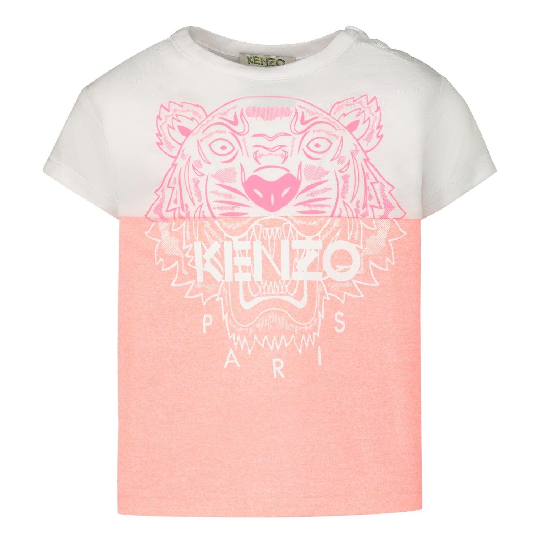 Afbeelding van Kenzo 10218BB baby t-shirt fluor roze