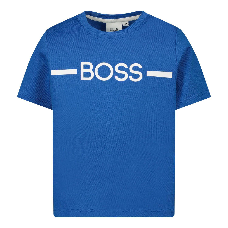 Afbeelding van Boss J05831 baby t-shirt cobalt blauw