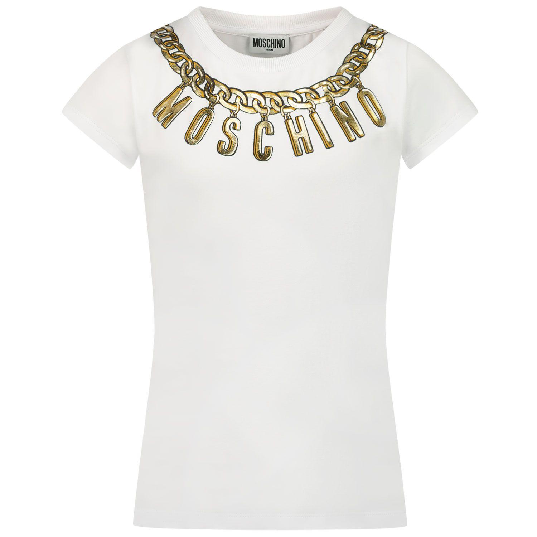 Afbeelding van Moschino H3M02O kinder t-shirt wit