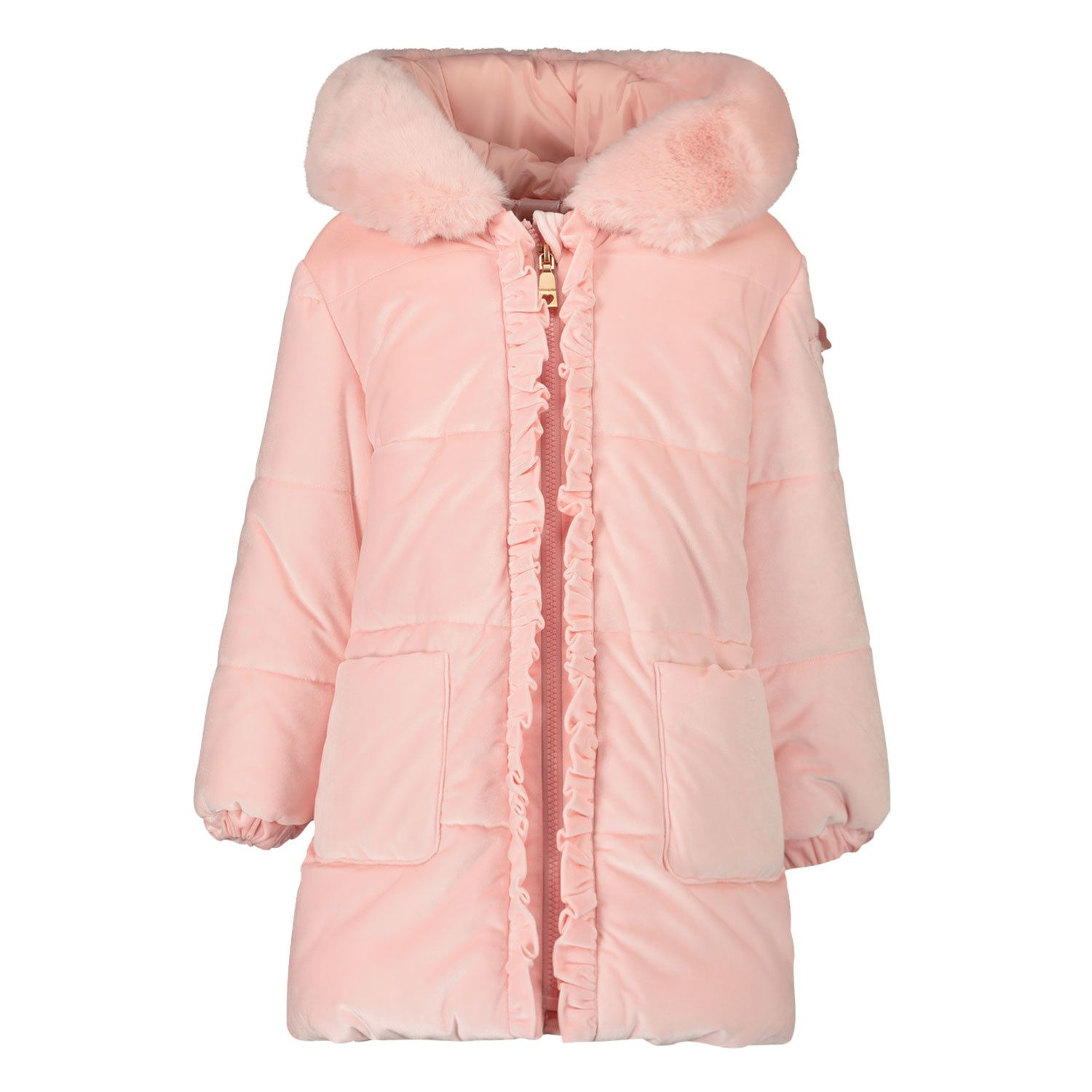 Picture of MonnaLisa 396110 baby coat light pink