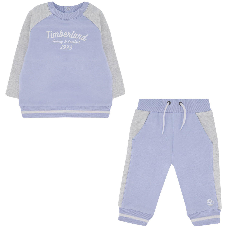 Afbeelding van Timberland T98284 baby joggingpak licht blauw