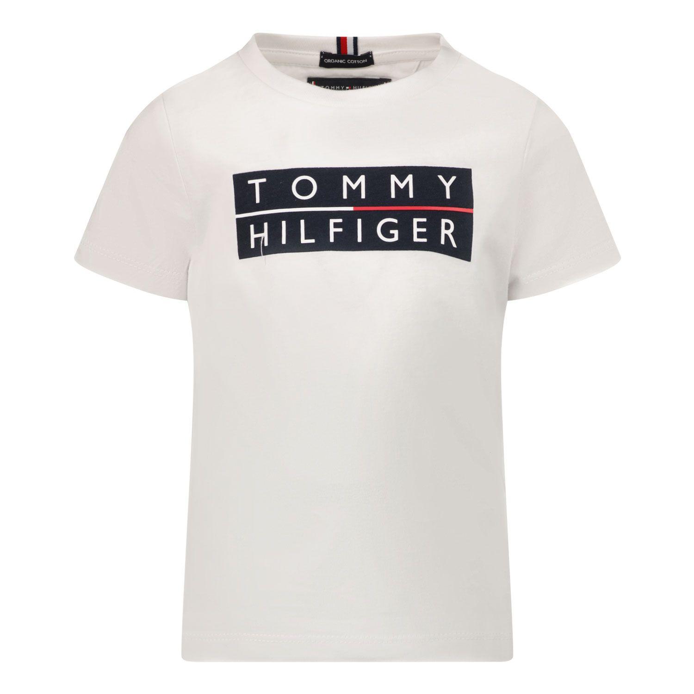 Bild von Tommy Hilfiger KB0KB06675 B Baby-T-Shirt Weiß