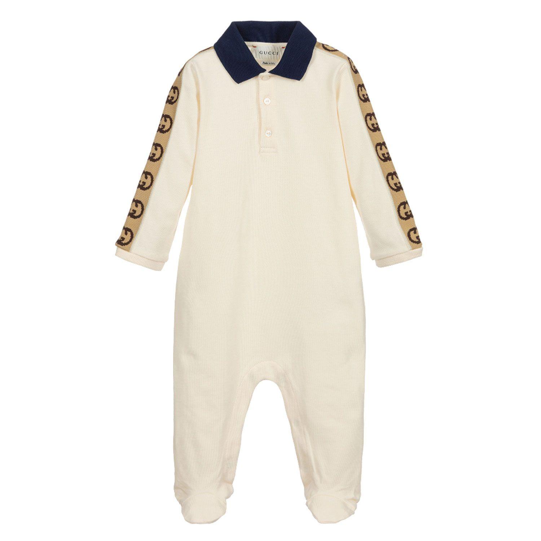 Bild von Gucci 627090 Babystrampelanzug Creme