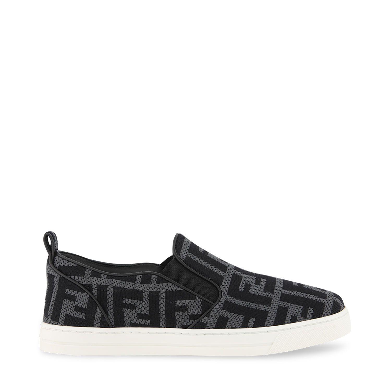Picture of Fendi JMR368 kids shoes black