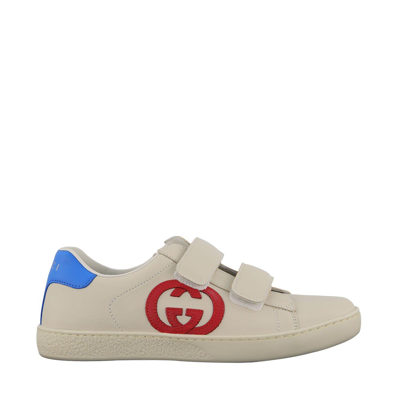 Afbeelding van Gucci 649759 kindersneakers off white