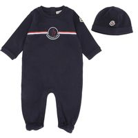 Picture of Moncler 8O70200 baby playsuit navy