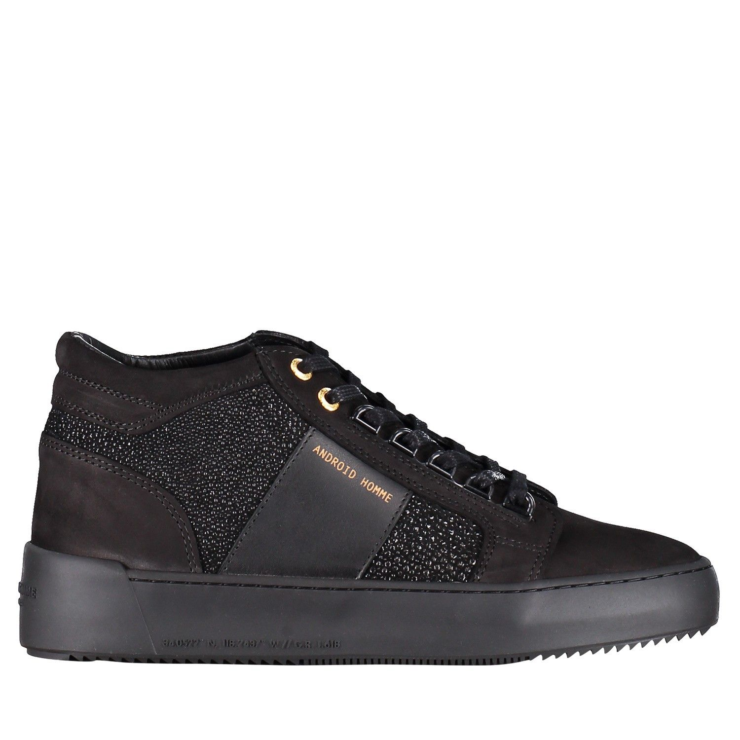 Picture of Android AHP19101 mens sneakers black