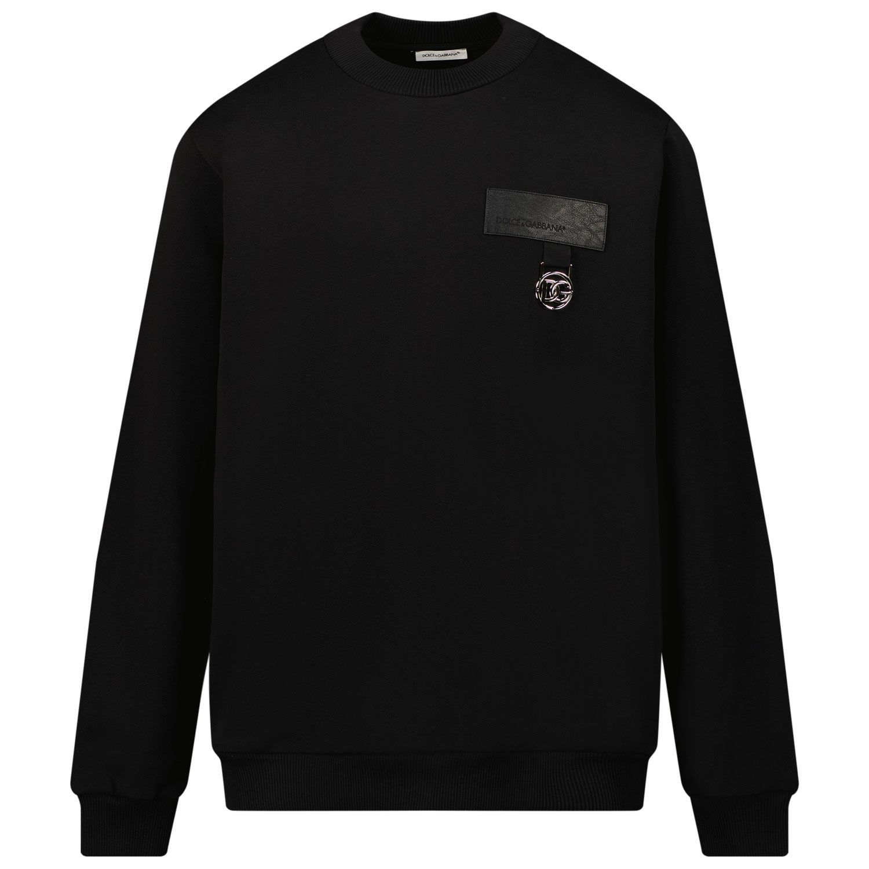 Picture of Dolce & Gabbana L4JWBL G7BCE kids sweater black