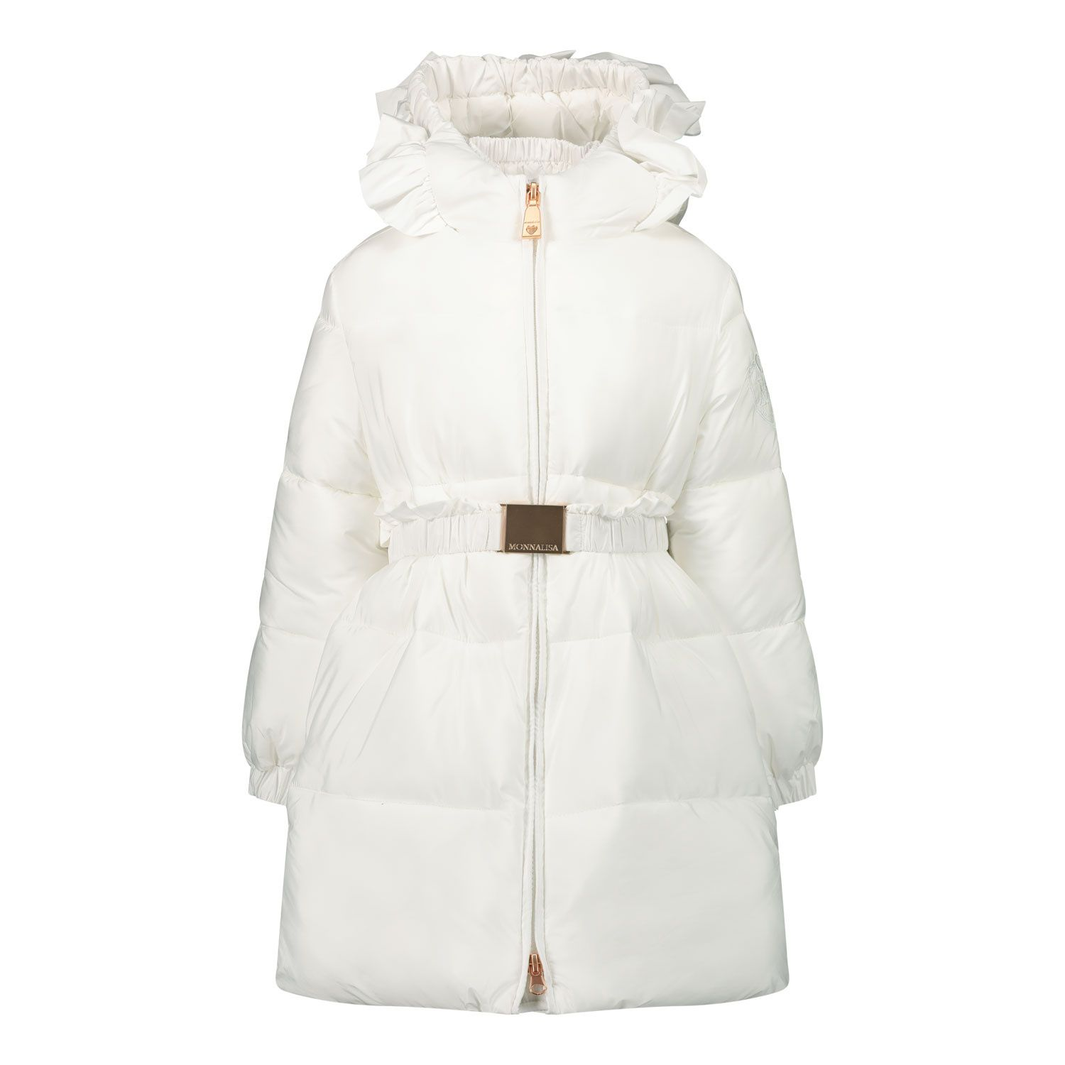 Picture of MonnaLisa 396100 baby coat off white