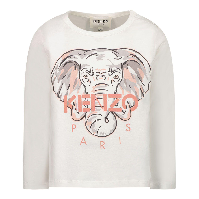 Afbeelding van Kenzo K05109 baby t-shirt off white