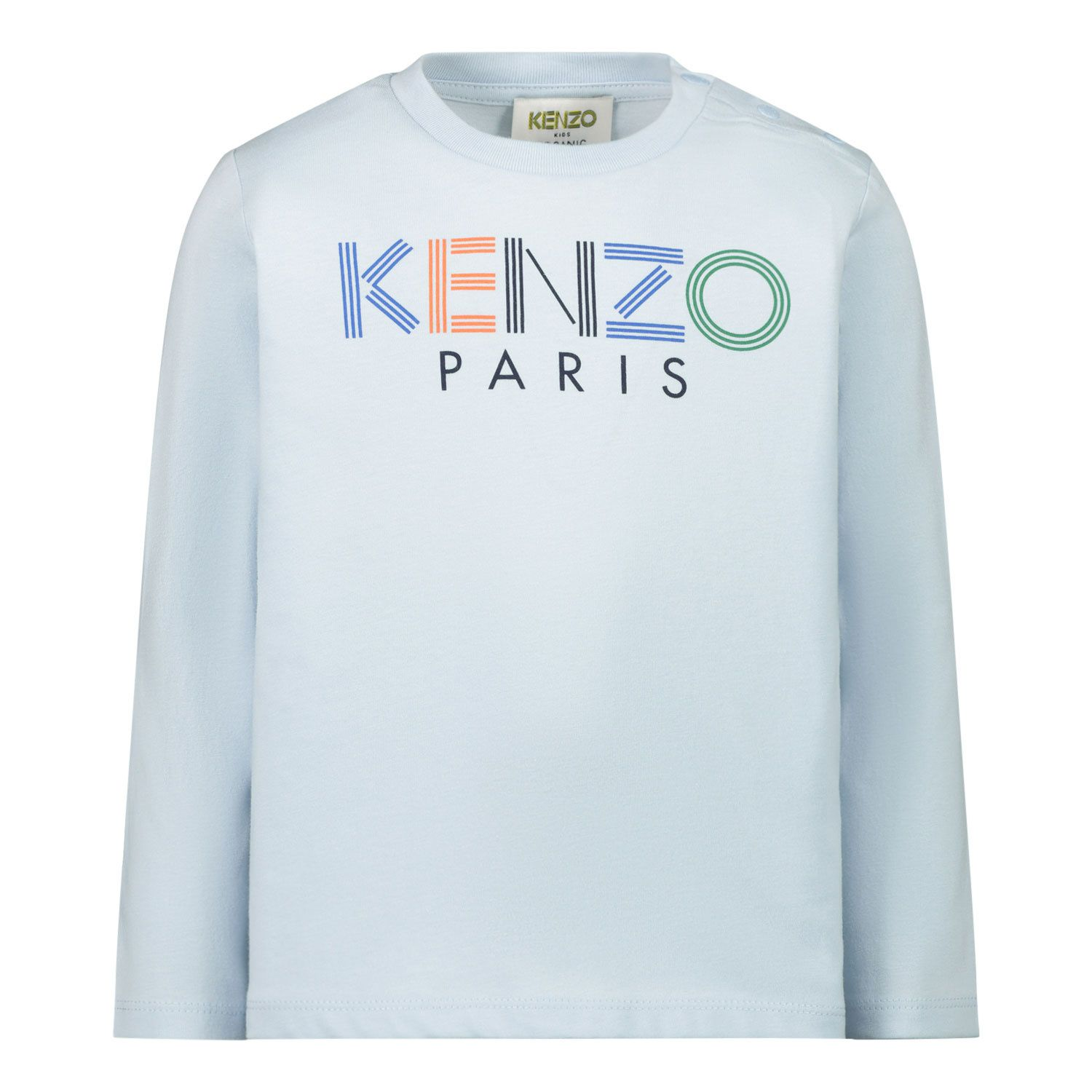 Picture of Kenzo KR10557 baby shirt light blue