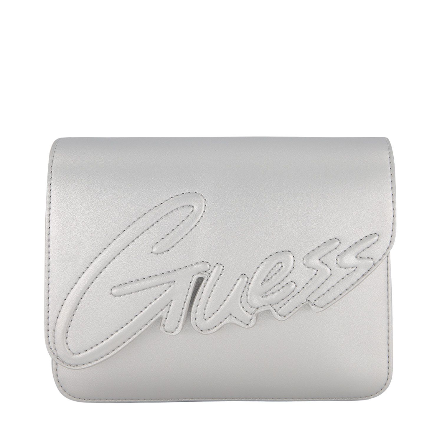 Picture of Guess HGIVY2 PU213 kids bag silver