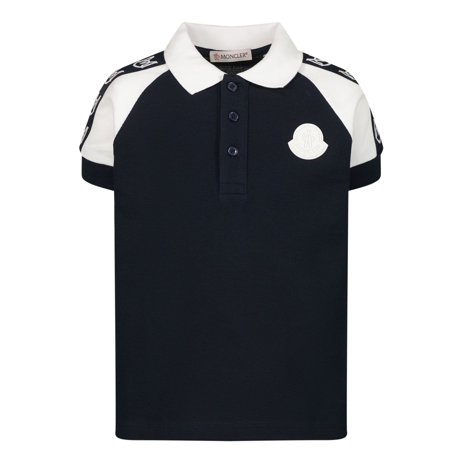 Picture of Moncler 8A70520 baby poloshirt navy