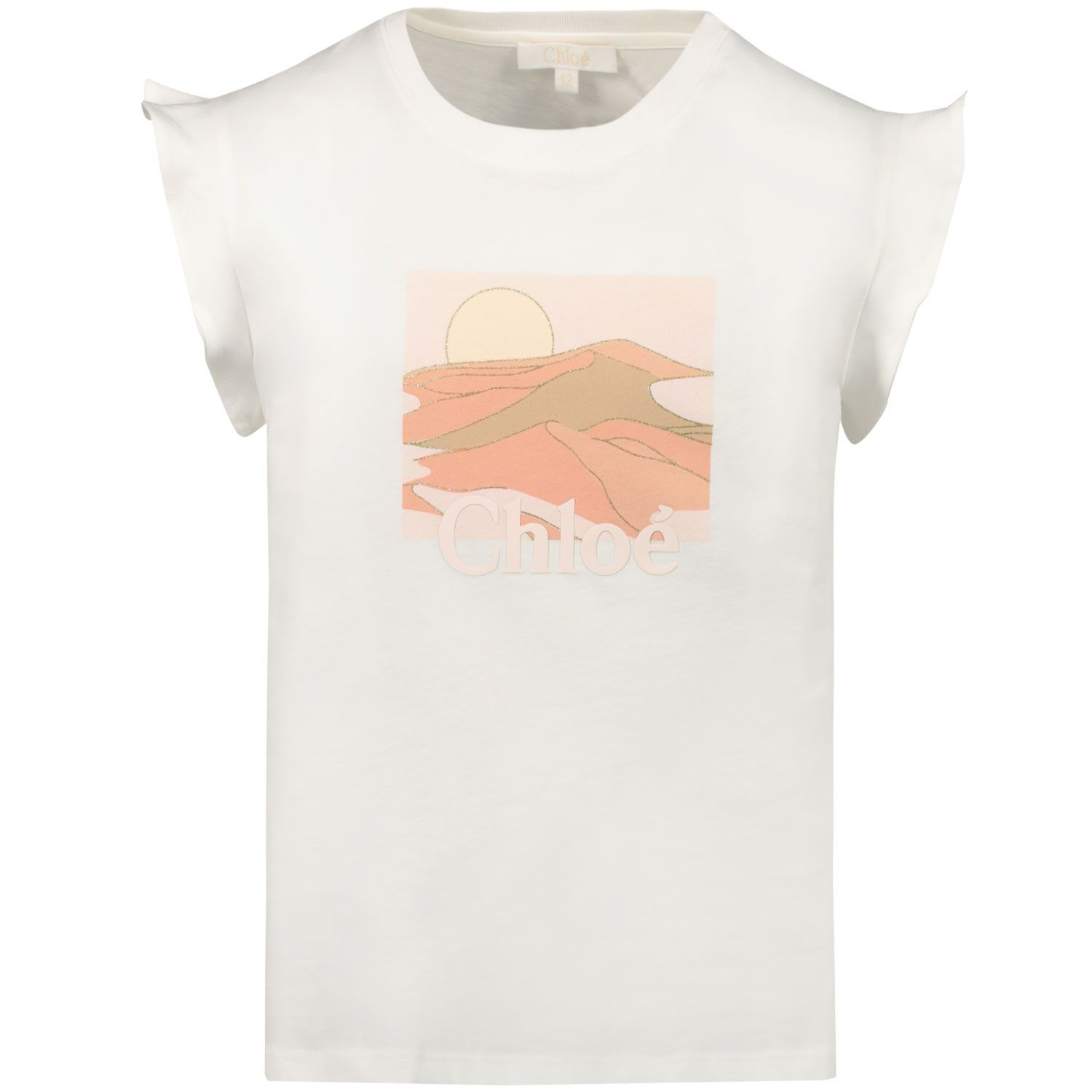 Picture of Chloé C15B68 kids t-shirt off white