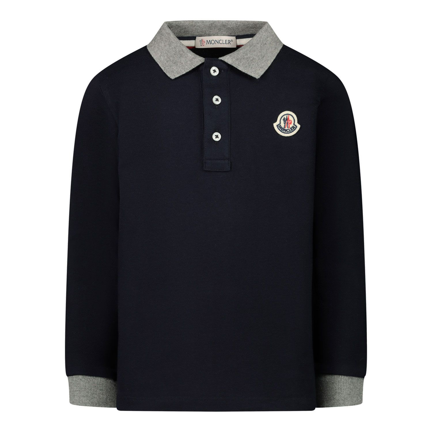 Picture of Moncler 8B70520 baby poloshirt navy