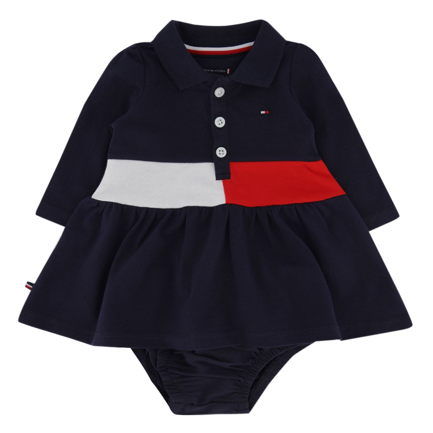 Picture of Tommy Hilfiger KN0KN01190 baby dress navy