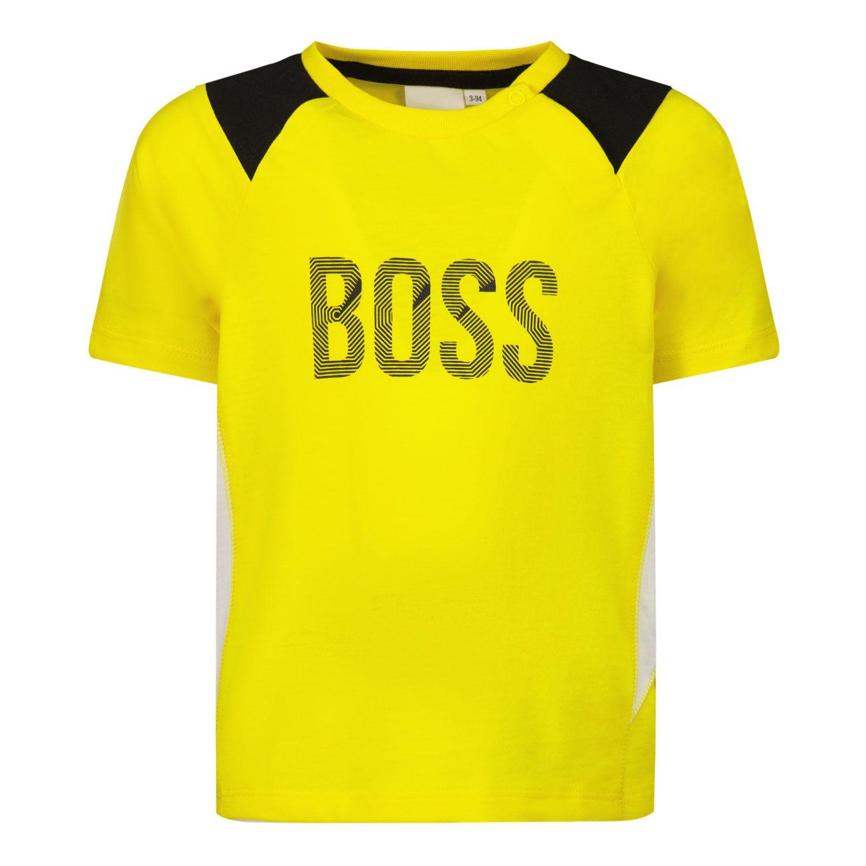 Bild von Boss J05843 Baby-T-Shirt Gelb