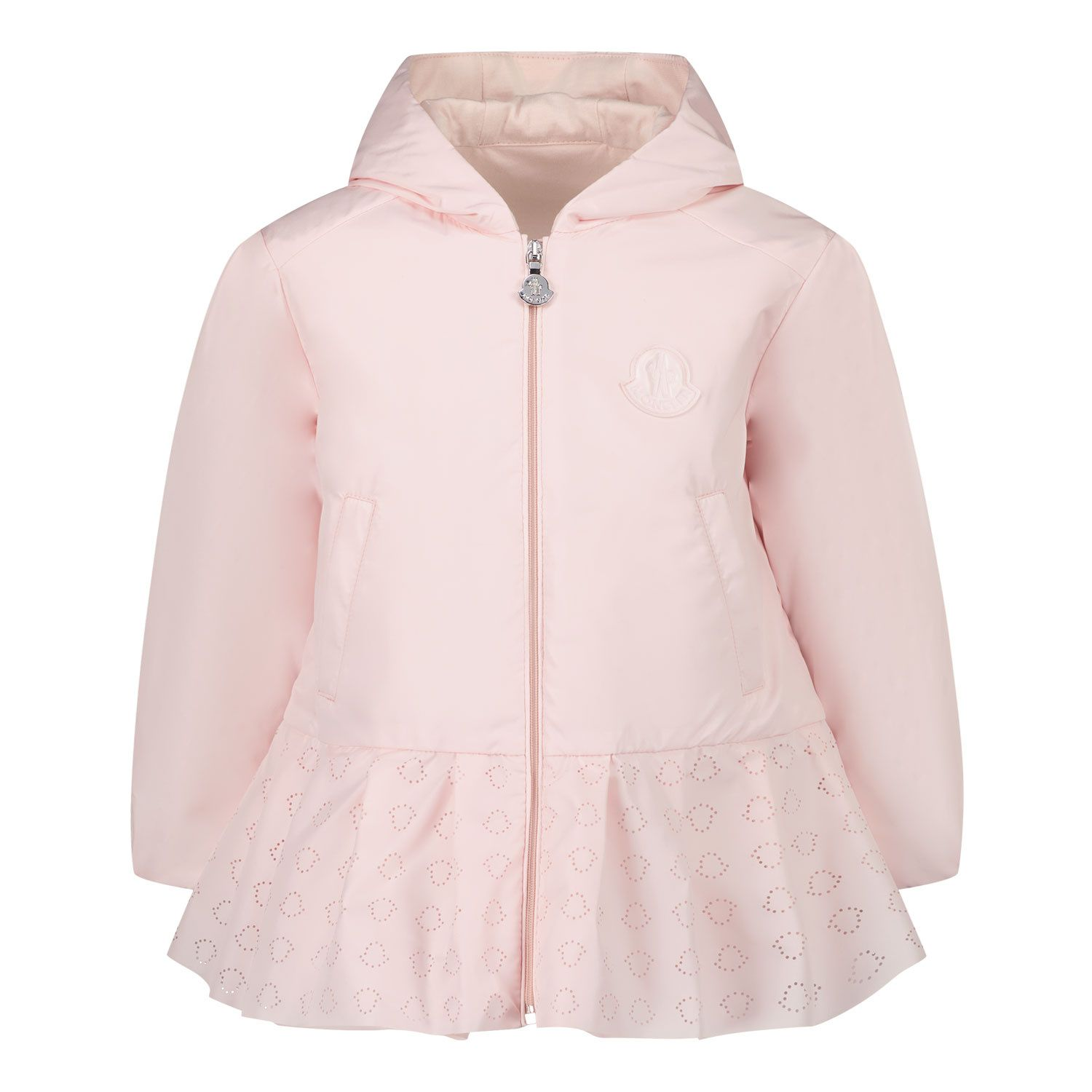 Picture of Moncler 1B70110 baby coat light pink