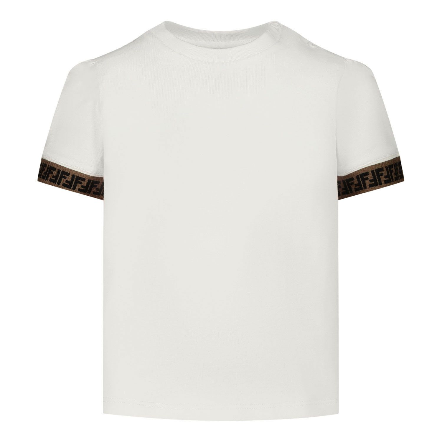 Picture of Fendi BMI216 baby shirt off white
