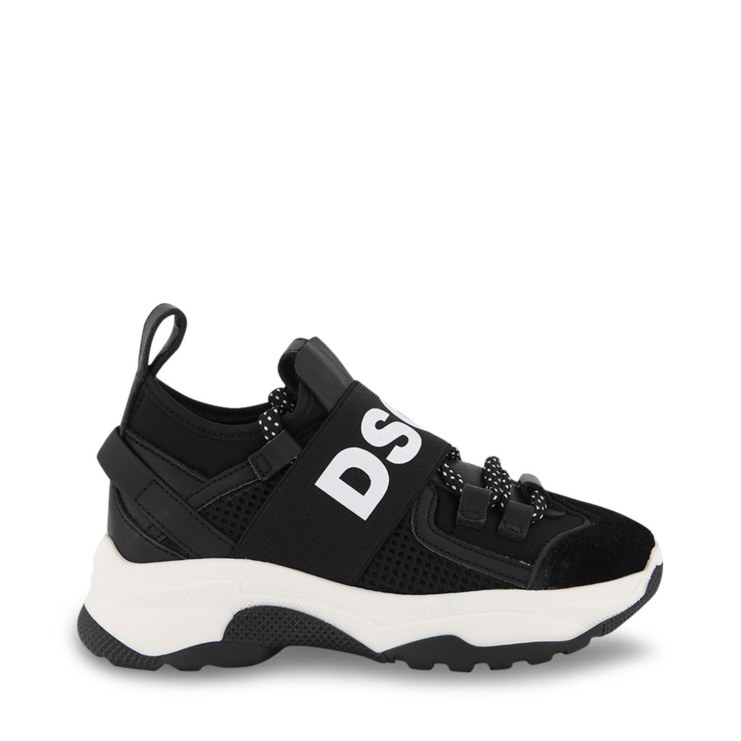 Picture of Dsquared2 68556 kids sneakers black