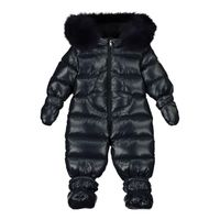 Picture of Moncler 1G51202 baby snowsuit navy