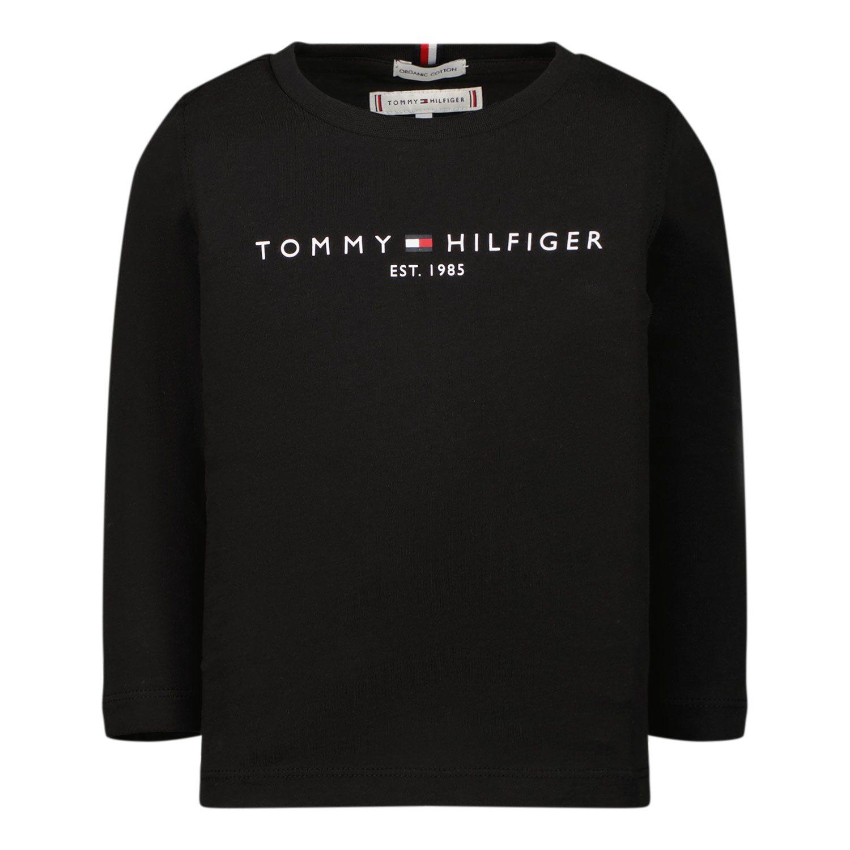 Picture of Tommy Hilfiger KS0KS00202B baby shirt black