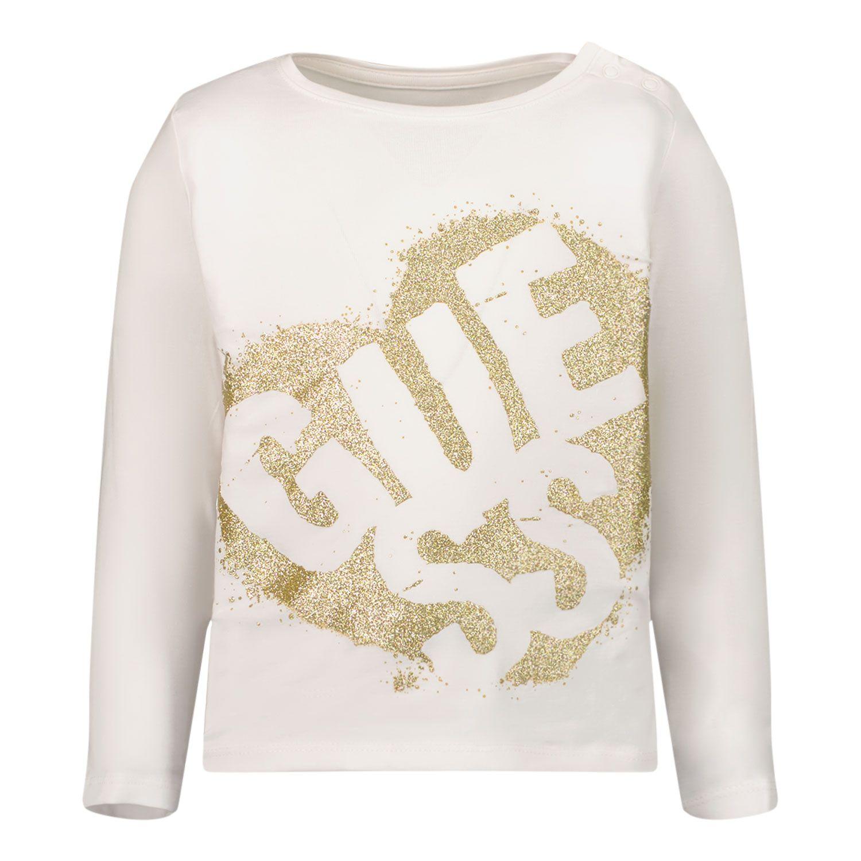 Afbeelding van Guess K1BI02 B baby t-shirt wit