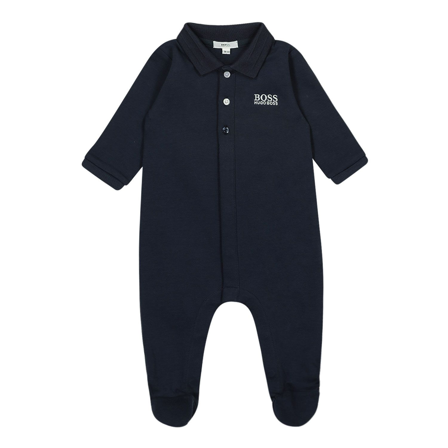 Picture of Boss J97169 baby playsuit navy