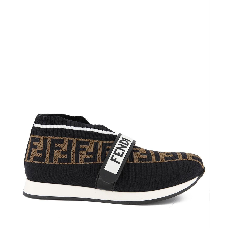 Afbeelding van Fendi JMR320 kindersneakers zwart