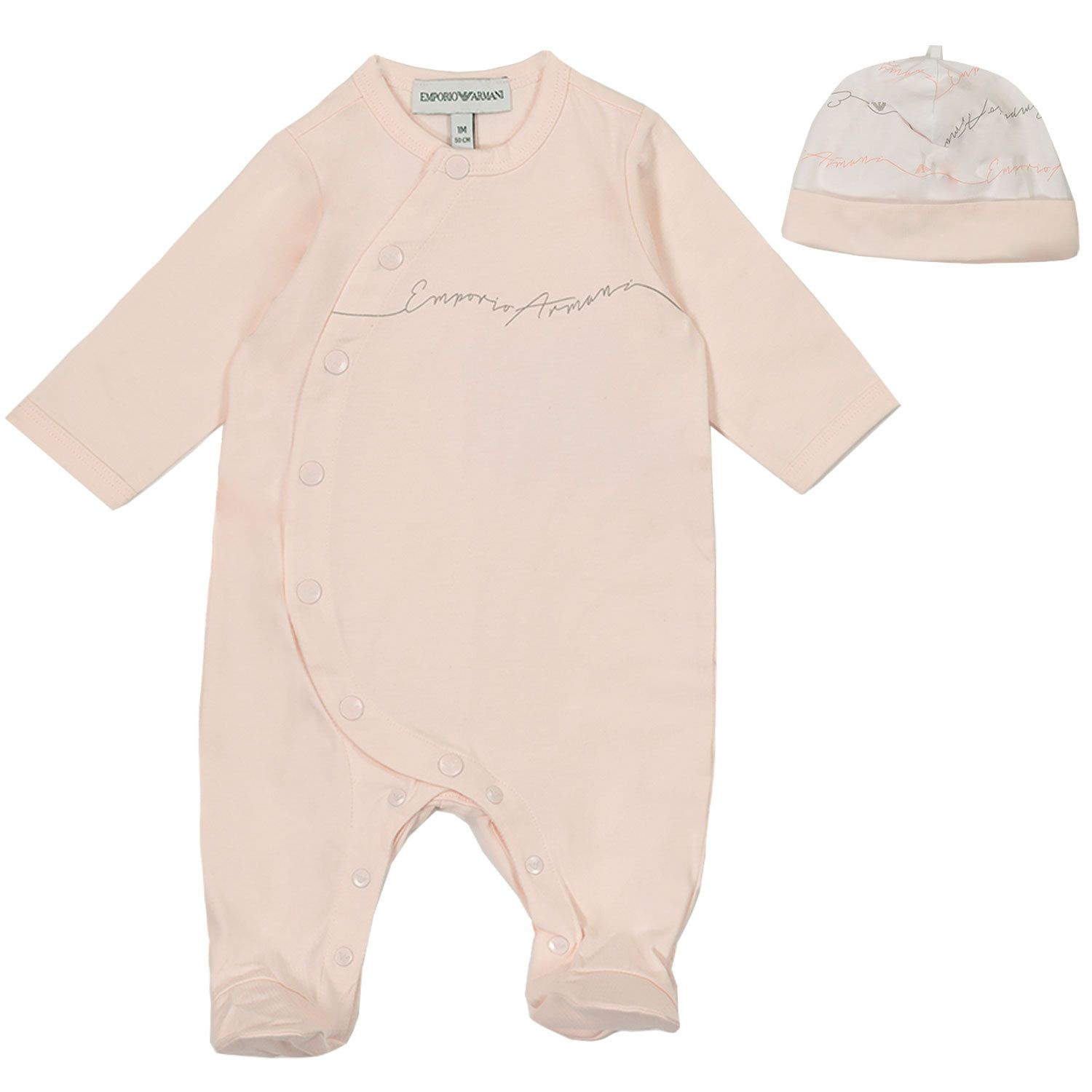 Picture of Armani 8NHV14 baby playsuit light pink
